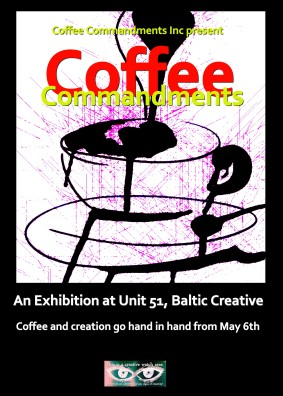 Coffee Commandments Art Promo Poster (1)