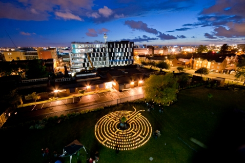 Candle Lit Labyrinth at LJMU on LightNight