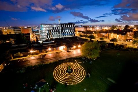 Candle Lit Labyrinth at LJMU on LightNight